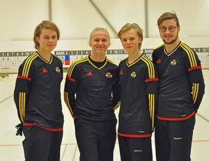 Lag Mattsson med Kevin Mattsson, Isak Stener, Ture Stenvall och Filip Stener tog silver för ÖCK under helgens JSM. Foto: Cecilia Stener.
