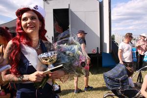 Vinnaren Miss Silverfreak heter egentligen Johanna Bergerin och jobbar som frisör i Västerås.