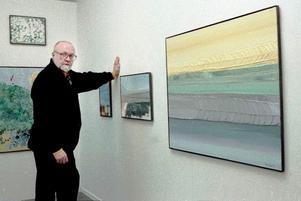 Lasse Sarris första utställning i Hälsingland var på Daagarssongården i Lenninge 1997. Bild Thord Ehnberg.