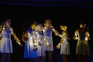 Det bjöds även på effektfyllda ljusshower.