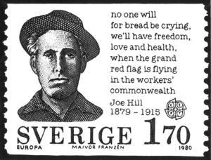 Joe Hill på frimärke.