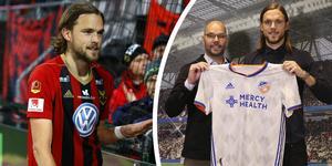 Tom Pettersson har presenterats av sin nya klubb. Foto: TT/Twitter (Montage)