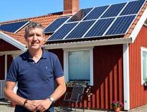 Hugo Franzén är energi- och miljökonsult och jobbar med rådgivning till både privatpersoner och företag som vill sätta upp solceller.Bild: Privat
