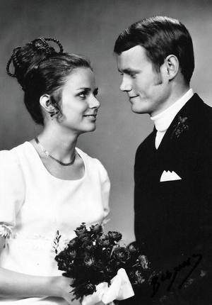 I november 1969 gifte sig Barbro och Klas. Foto: Privat