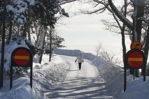 Ringvägen bjuder på ändlöst vackra vyer när kylan slår till. Det här är 22 februari 2010.
