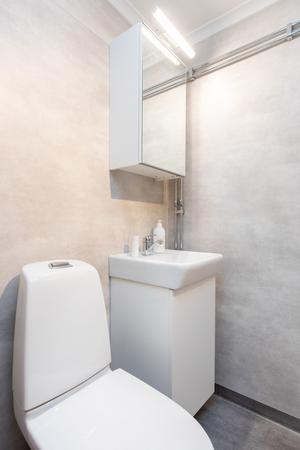 De två badrummen är nyrenoverade. Foto: Kim Lill, Husfoto