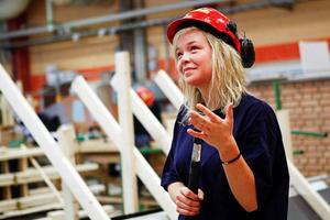Erika Norderud tyckte att det var roligare att bygga friggebod och bastu än ramper för bräd- åkare.
