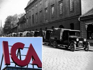 Arkiv. Föregångaren till dagens Ica-koncern, Hakonbolaget, huserade på Hamngatan i Västerås (stora bilden). Bilden är ett montage.