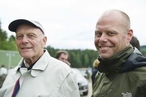 Gunnar Andersson och Erik Andersson, far och son, såg showen tillsammans.