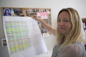Hannele Mustonen hanterar sommarjobben i Smedjebackens kommun.