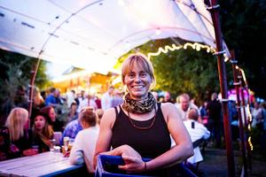 Sara Johansson på en av förra årets sommartorsdagar på Rosehills.