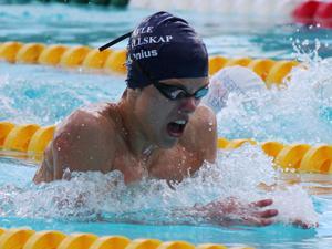 Marcus Ålenius, Gävle SS, Svensk Ungdomsmästare på 100 och 200 m bröstsim.
