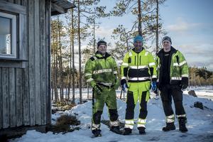 Från vänster Jacob Lindeberg, John Vesterström och Sven Lundman.