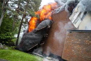 Så här såg det ut när det brann.