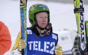 Sandra Näslund gjorde en imponerande insats. 17-åringen från Kramfors åkte tufft och tog verkligen för sig i varje heat.