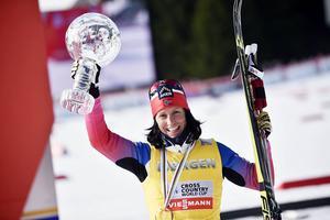 Den norska skiddrottningen Marit Björgen är tillbaka på skidor. Det är dock oklart hur länge det dröjer innan vi får se henne i tävlingssammanhang igen.