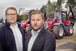 Marknadschefen Pär Eriksson och nyanställda exportchefen Daniel Majgren berättar att Huddig nu ska satsa stort på exportmarknaden.