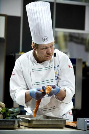 Daniel Räms under torsdagens kocktävling i Globen.