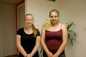 Sabina Bernhardsson och Emilia Lundqvist var två av ungdomarna som deltog under veckan.