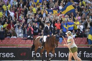 15 123 åskådare såg svenske Peder Fredricson vinna EM-guld på Ullevi i Göteborg.