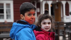 Det fanns ansiktsmålning för barnen.