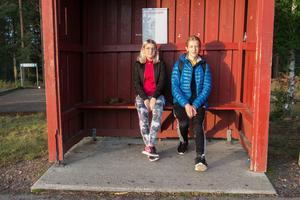 Anna Andersson, 13, och Edvin Jäderberg, 14,  går i åttonde klass på Norrsätraskolan.