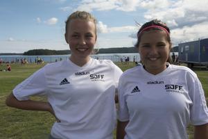 SDFF:s Tea Hedlund, 12, och Tindra Åsén, 12, var nöjda med dagen.