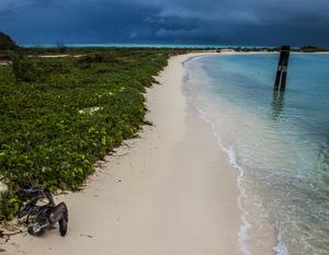 Dry Tortugas stränder ligger rogivande öde.