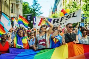 Sundsvall 4 juli: Prideparaden slår rekord igen.