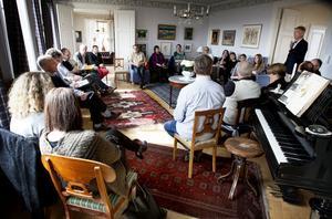 Ett 20-tal personer hade kommit till Nordlanderska herrgården för att vara med och diskutera hur kulturmiljöer ska kunna användas för att skapa nya näringar.