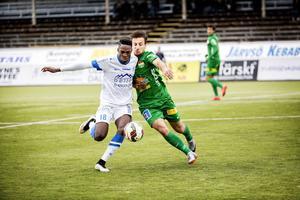 Armin Tankovic under fjolårssäsongen med Dalkurd.