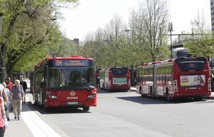 Nobina kör lokalbussarna i Södertälje åt SL.