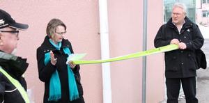 Kommunalråd Marie Wilén invigde