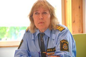Kerstin Svedberg, lokal polisområdeschef, anser att god samverkan ligger bakom trygghetssiffrorna.