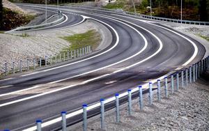 Den så kallade gröna asfalten innebar en miljövinst vid bygget av nya E4 mellan Hudiksvall och Enånger.