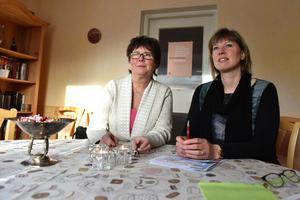 Lena Broman och Kristina Gunnars berättar om den kommande föreläsningen.