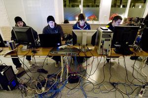 De fyra arrangörerna kommer att turas om att sova: Karl Skoglund, Robert Svensk, Joakim De Jorge och Martin Örnerfors.