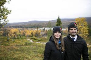 Prinsessan Sofia och Prins Carl Philip under sitt besök i Idre Sameby.