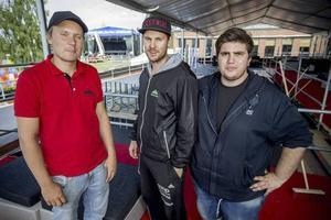 Tobias Wikström, Oscar Westerlind och Dino Vulic - projektledarna för Härnösands Stadsfest.