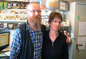 Anneli och Jens-Martin Hansen, nya mackägare i Bispgården.Foto: Ingvar Ericsson
