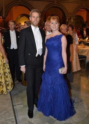 Näringsminister Annie Lööf med make Carl-Johan Lööf.