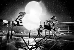 SM-veckan 2009 avgjordes på Malmö stadion med friidrott. 110 meter häck i regn var en av de sista grenarna som genomfördes innan resten av tävlingen ställdes in på grund av vädret.