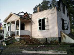 Branden var en av de värsta villabränderna i kommunens historia.