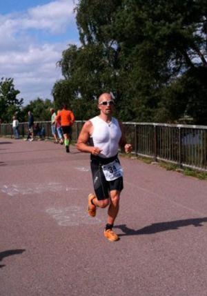 Mirre Eriksson under maratonloppet.