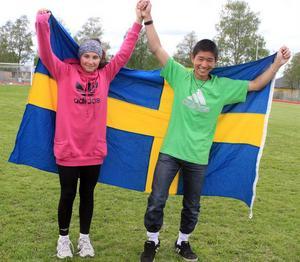 Lina Johansson och Am Phantachai – vinnare i Skolpropagandan 2012.
