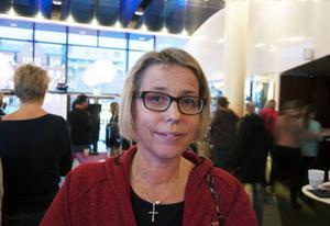 Kristina Kojan, Svenska kyrkan i Brunflo arbetar i Grytan tillsammans med Röda Korset och uppskattade föreläsningen.