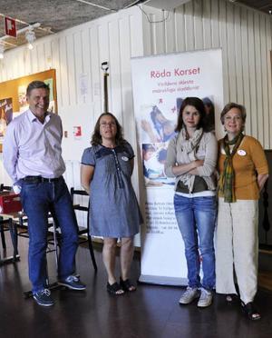 Röda Korset representerades bland andra av Marco Helles, Monica Jonsson, Ester Hedin och Pia Olsson.