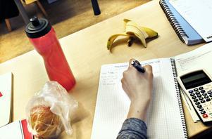 Det gäller att ha alla hjärnceller i fokus när matematik ska räknas. Frukt och vatten kan tjäna som hjälpmedel.