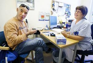 Per Johansson tycker att han har fått ett helt nytt liv sedan han började hos diabetessköterskan Margot von Holst för två år sedan.