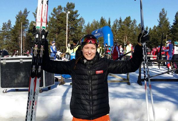 Emma Thalin, Svegs IK, tog sitt andra brons under JSM när hon knep tredjeplatsen i sprint.